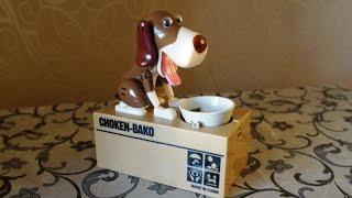 ЛёваЛэнд интерактивная копилка Голодный пёс, собака поедающая монеты Копилка собачка Обзор