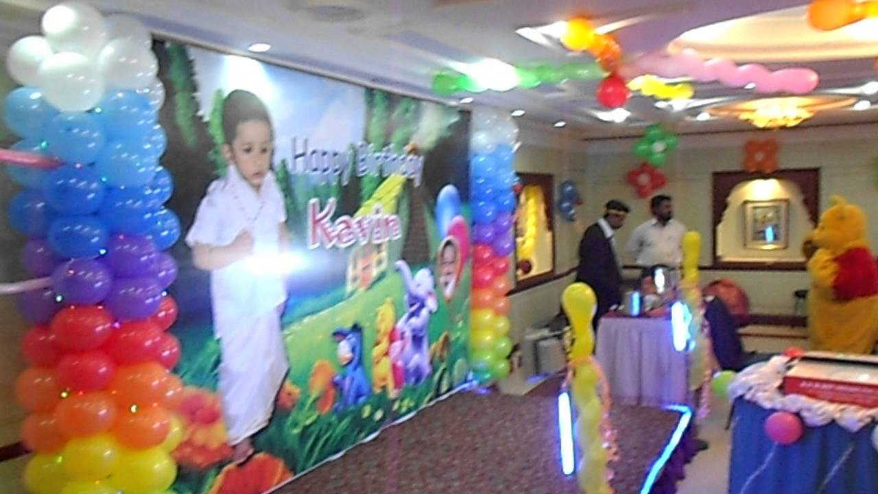 Colourfull Hall Decorations   Winnie the Pooh Theme   YouTube