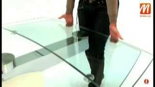 видео Стеклянные столы для кухни. Купить стеклянный кухонный стол