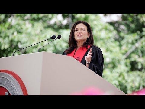 Sheryl Sandberg at MIT Commencement 2018
