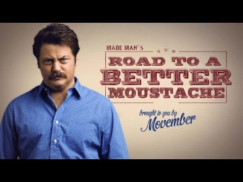 How to Grow a Moustache with Nick Offerman  Movember