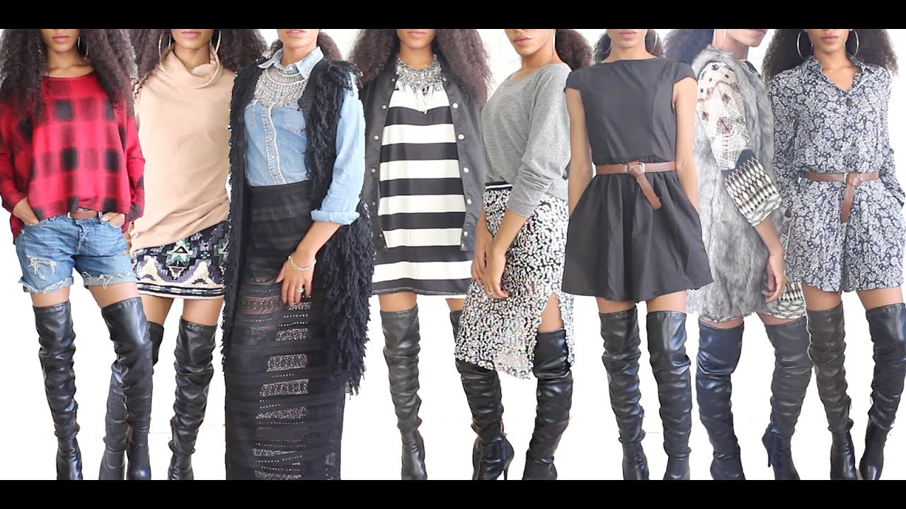 Fall Lookbook 2014: How to Style Thigh High Boots | VICKYLOGAN ...