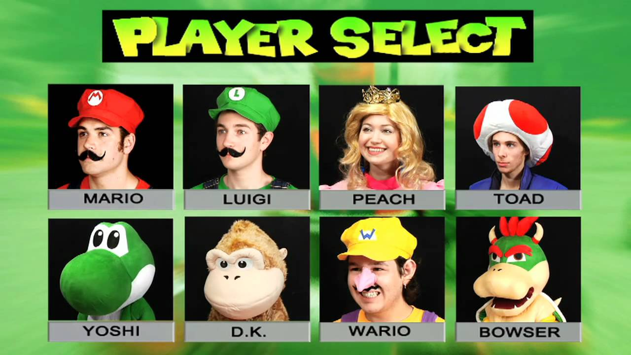 07d51f41b Mario Kart  Live Action Player Select Screen (IRL) - YouTube