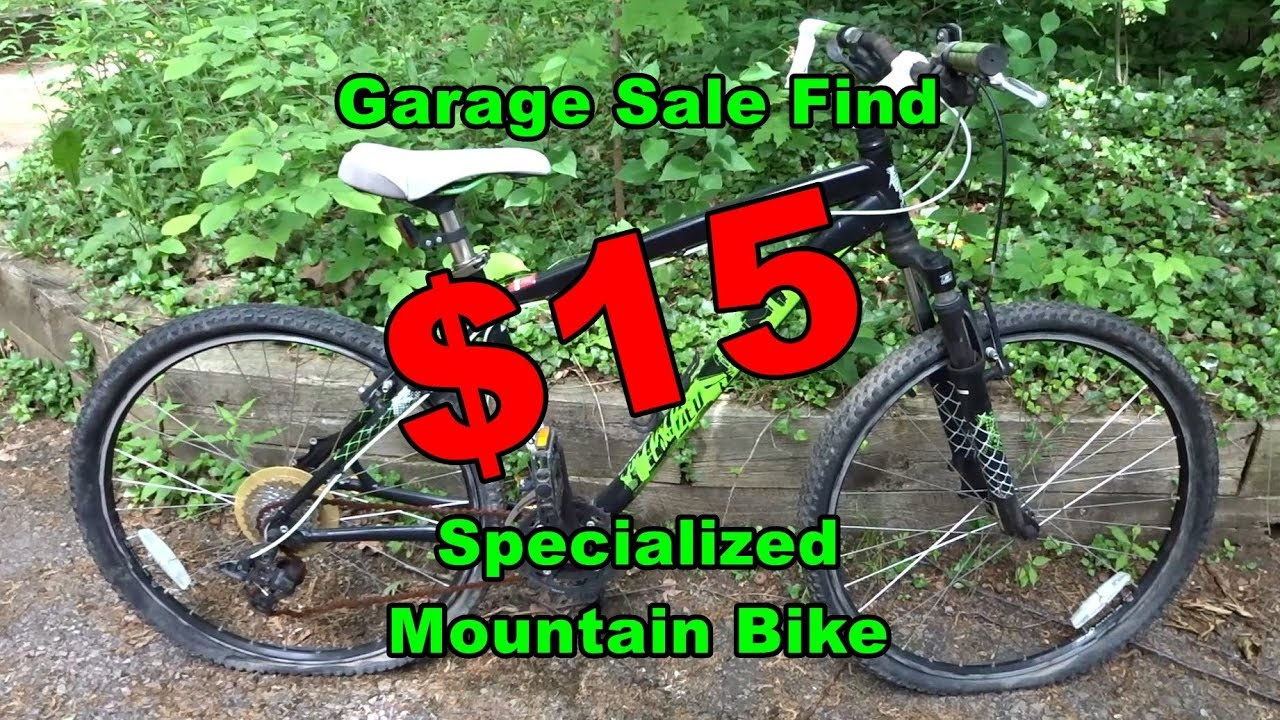 $15 Specialized Hardrock Mountain Bike Garage Sale Find - Needs Work