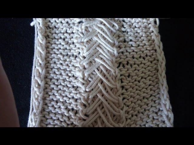 Pletenje - 4 Mustra sa izvu?enim petljama | Knitting tutorial | Braid Loop Stitch Pattern
