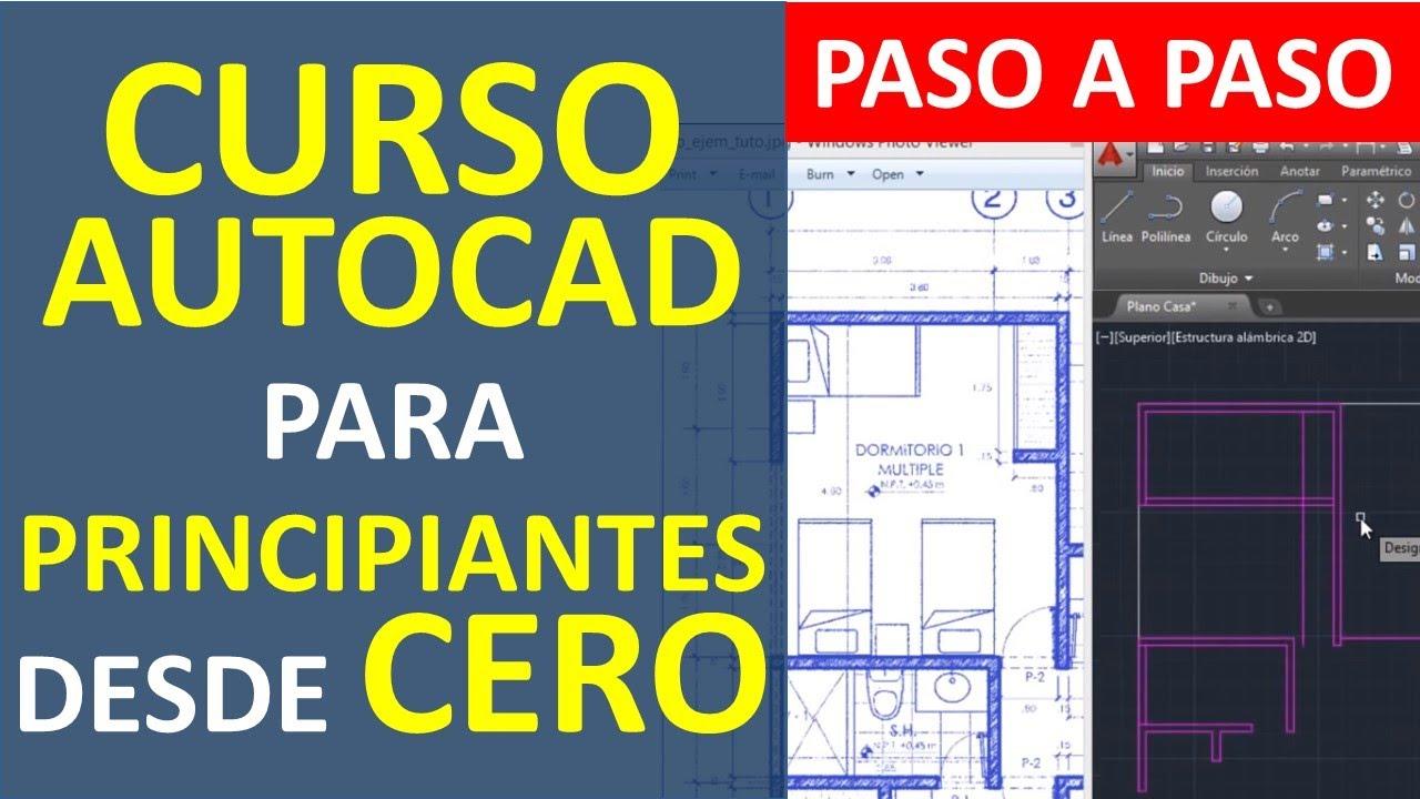 Curso de autocad dibujar el plano de una casa parte 1 for Hacer planos en linea