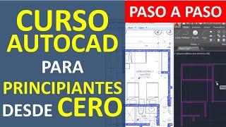 Curso de AutoCAD: Dibujar el Plano de una Casa - Parte 1: Entorno, creación de capas, lineas, etc