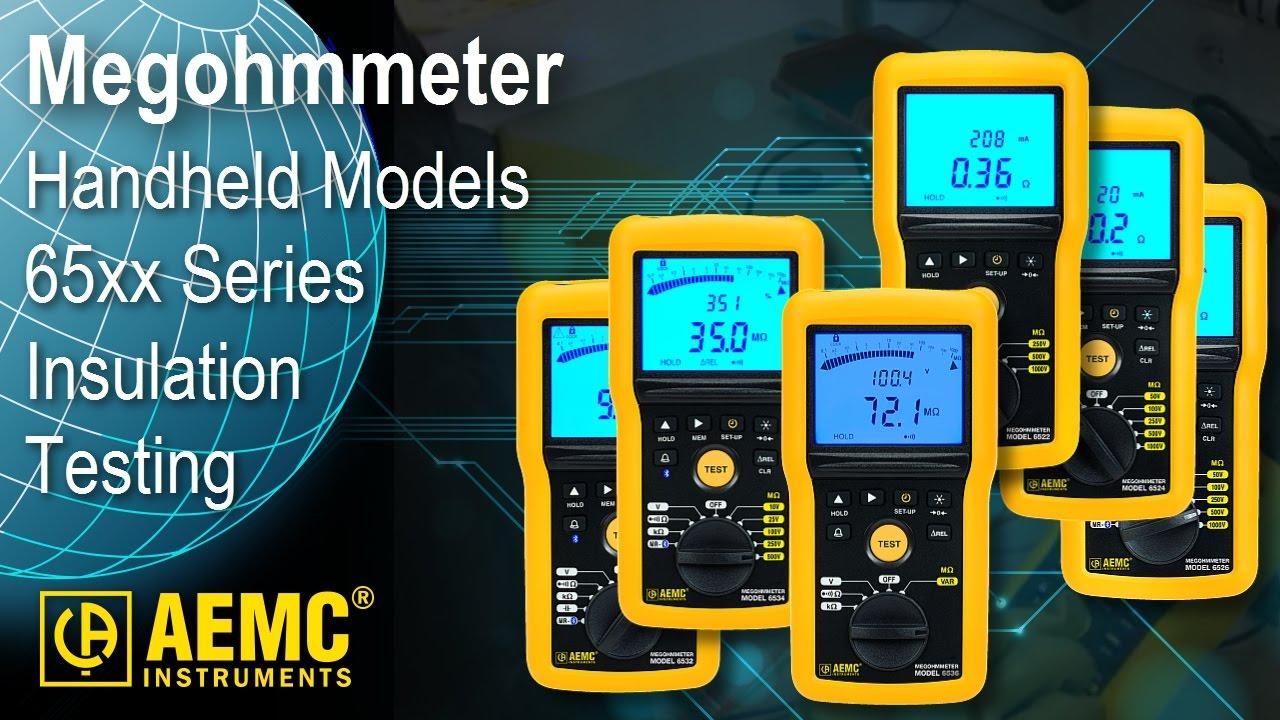 AEMC® - Handheld Megohmmeters / Insulation Testers - YouTube