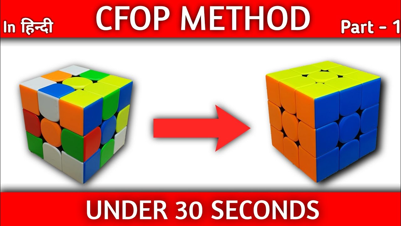 CFOP Tutorial : Rubik's cube solve under 30 seconds | Part - 1 Cross |