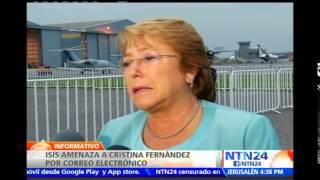 Estado Islámico habría amenazado de muerte a Cristina Fernández y Michelle Bachelet