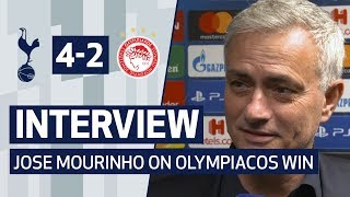 INTERVIEW | JOSE MOURINHO ON INCREDIBLE OLYMPIACOS COMEBACK | Spurs 4-2 Olympiacos