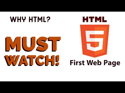 HTML Tutorial 2020 : First Web Page
