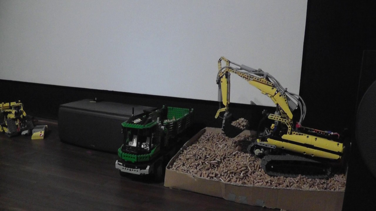 Lego Bagger 8043 Mit Mods Youtube