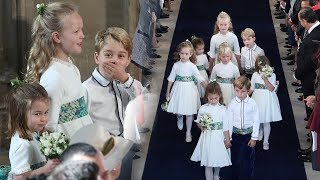 Duchess Kate's reaction to seeing George & Charlotte in Eugenie's royal wedding is so cute