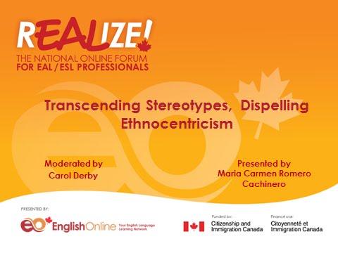 REALIZE 2015 Forum - Transcending Stereotypes, Dispelling Ethnocentrism