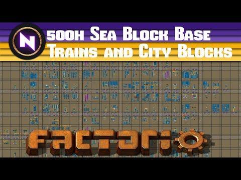 Factorio Engineering - TRAIN AND CITY BLOCK BASED SEA BLOCK
