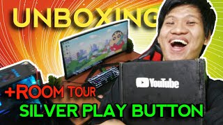 UNBOXING SILVER PLAY BUTTON +ROOM TOUR ACI GAMESPOT!! TERIMAKASIH ACIFANS!!!