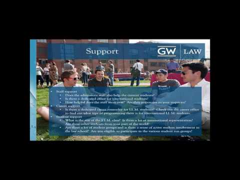 Preparing for an LLM in the U S, perspectives from George Washington University Law School