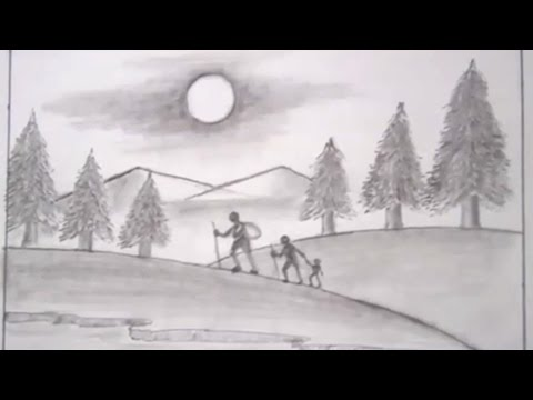 Drawing a natural landscape