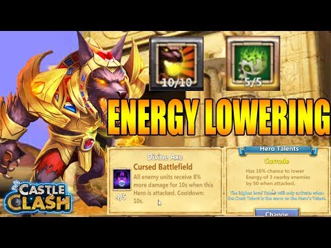 LONE HERO LOWER ENERGY: 5/5 CORRODE ANUBIS MAXED OUT - CASTLE CLASH