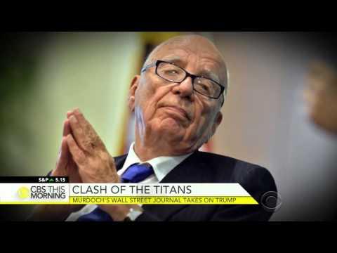 Murdoch's Wall Street Journal Takes On Trump