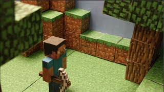 Minecraft papecraft stop motion adventure - Episode 2 - Exploring