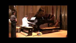 """Silvio Celeghin plays Schumann op.58 n.3 with Doppio Borgato in """"Gran Teatro La Fenice"""" - Venice"""