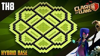 NEW BEST TH8 HYBRID/TROPHY Base 2019!! COC Town Hall 8 (TH8) Trophy Base Design - Clash of Clans