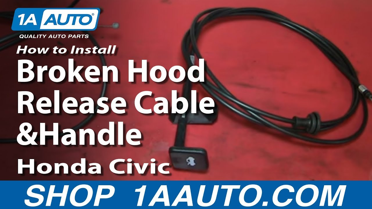 How To Install Replace Broken Hood Release Cable and