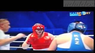 Бокс ЧМ-2016.Женщины. Ляззат Кунгейбаева против китайской великаншы