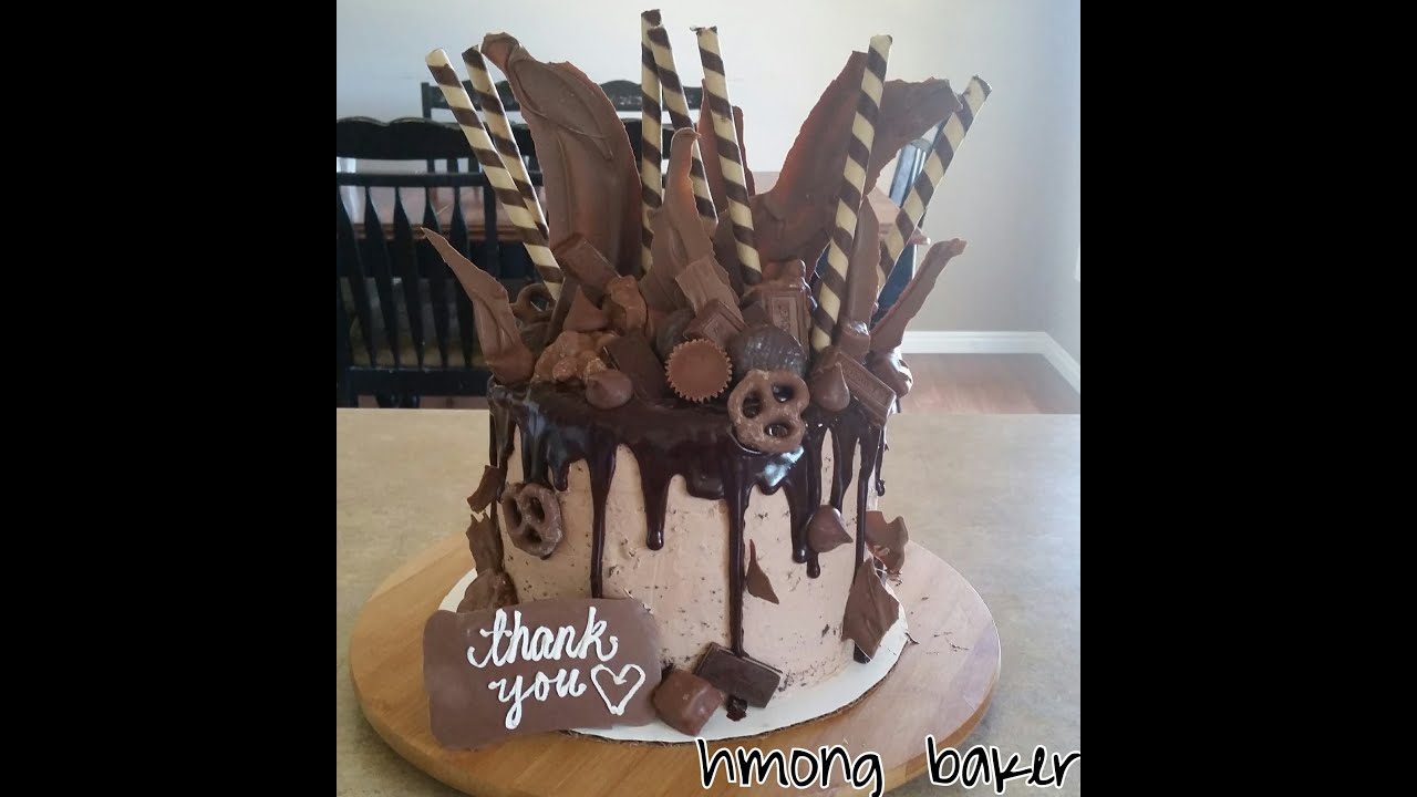 ULTIMATE CHOCOLATE DRIP CAKE. Cake Decorating - YouTube