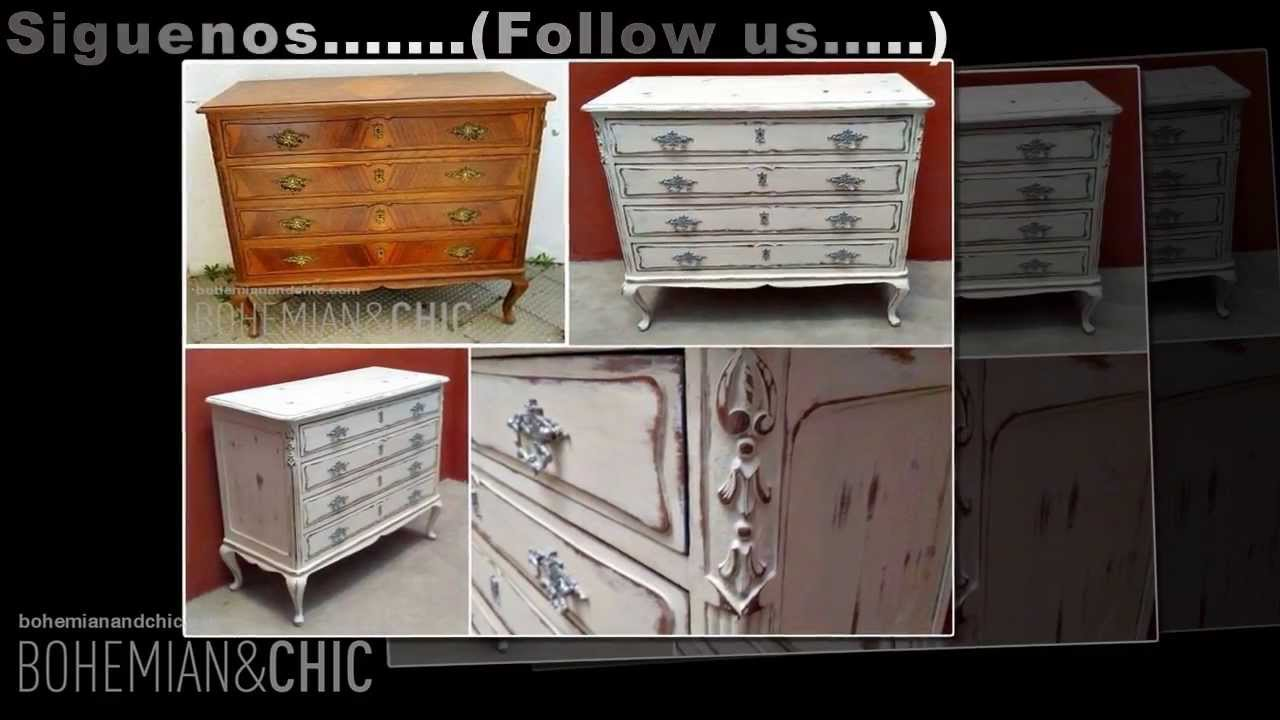Cmoda vintage estilo shabby  Vintange chest drawer in