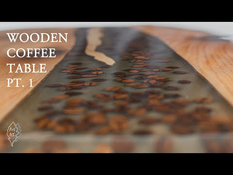 DIY Wooden Epoxy Coffee Table - in the shape of a coffee bean, part 1 | Maciek sam w domu