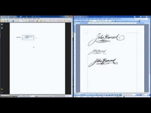 How to put signature on pdf document