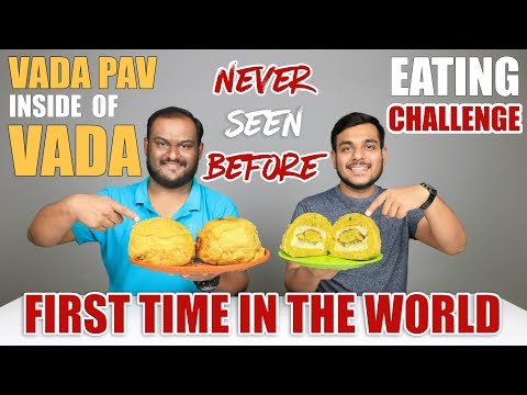 VADA PAV INSIDE OF VADA EATING CHALLENGE | Unique Food Eating Competition | Food Challenge