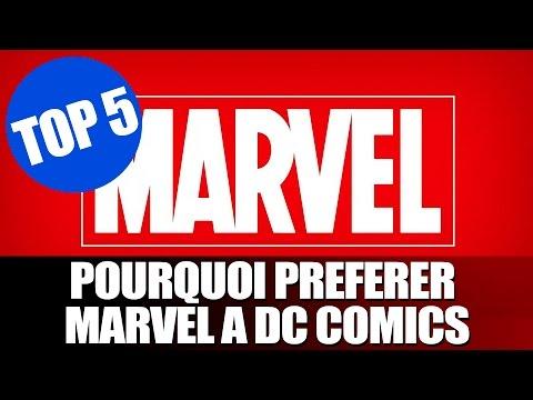 Comics Universe #TOP 5 Pourquoi préférer Marvel à DC Comics