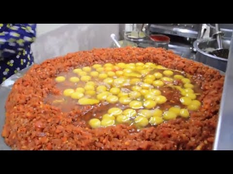 Street food - The BIGGEST Scrambled Egg | 240 EGGS Scrambled with Loads of Butter - India