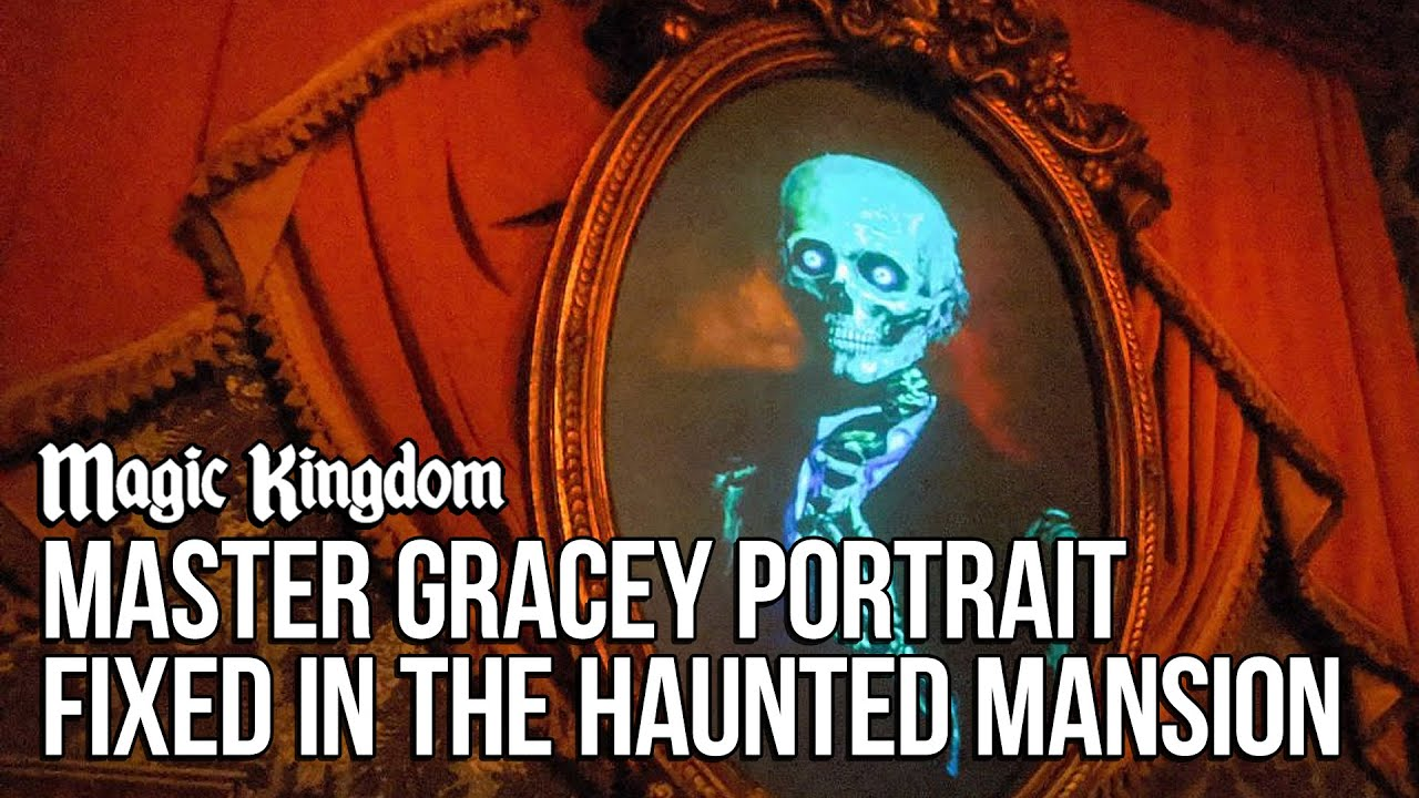 Master Gracey Portrait Permanently Fixed in The Haunted Mansion at Magic Kingdom