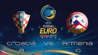 Croatia vs. Armenia 8:0 (EURO 2016 qualifyers, Dubrovnik, Croatia, 19.3.2015.)