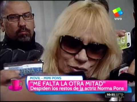 """Mimí Pons: """"Con Norma siempre la peleamos"""""""