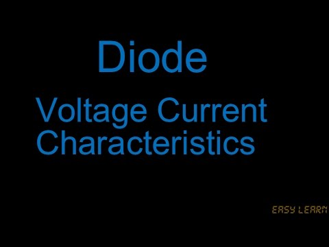 Diode and Applications Episode 05 Urdu/Hindi  -VOLTAGE CURRENT CHARACTERISTICS