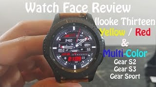 Watch Face Review : llooke Thirteen Gear S2 Gear S3 Gear Sport