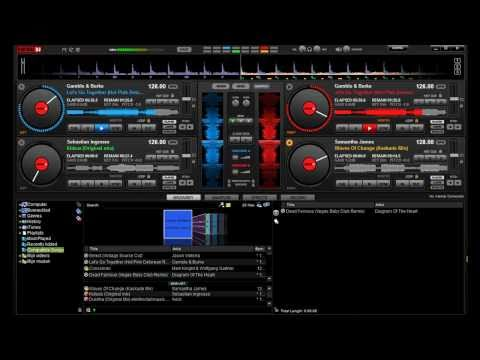 Virtual DJ 7 Pro House/Trance (How to create a mix) With 4 Decks [HD]