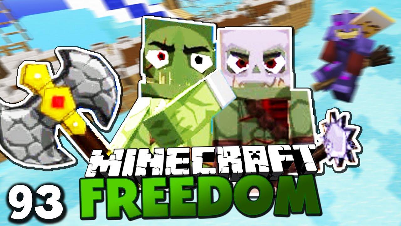 MEIN FLIEGENDER BESEN! & KAMPF GEGEN ORKS! ✪ Minecraft FREEDOM #93 ...