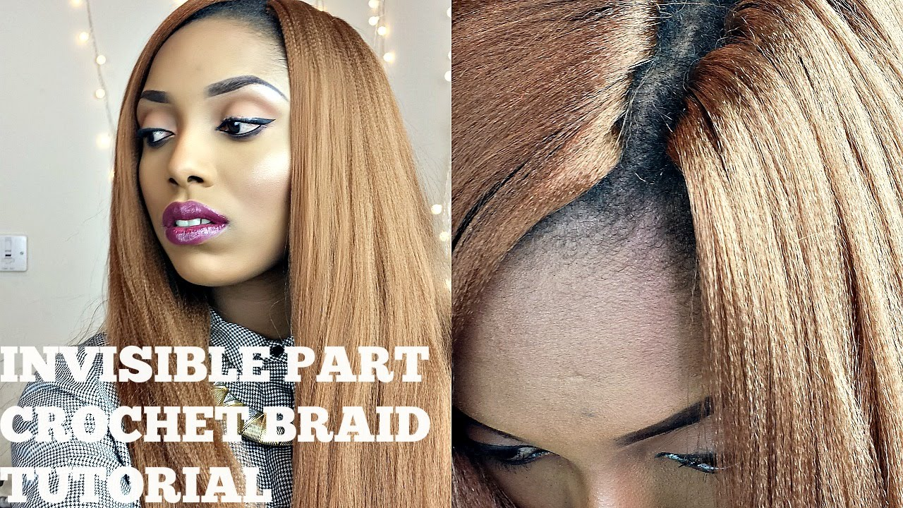 Crochet Braids Part : Crochet Braids With Kanekalon Hair ( Invisisible / Knotless Part ...