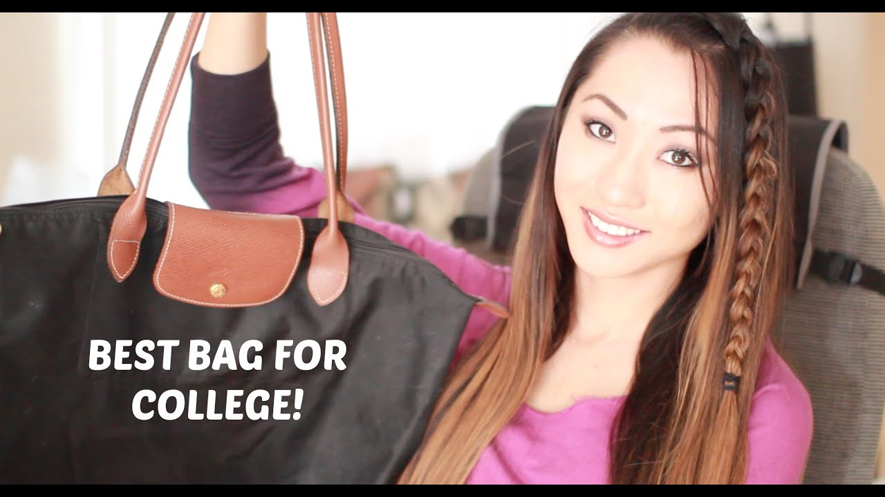 best bag for college longchamp le pliage review youtube