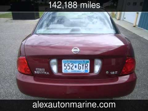 Superb 2004 Nissan Sentra//1.8s//Auto//custom Wheels//new Tires S Used Cars    Alexandria,Minnesota   2013
