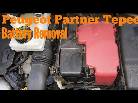 Peugeot Partner Tepee Battery Removal