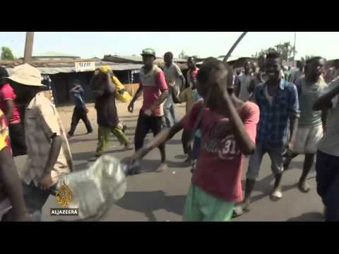 Children join protests against Burundi government