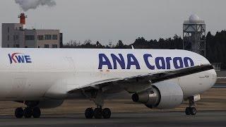 ana cargo boeing 767 300f ja603a landing at nrt 34r